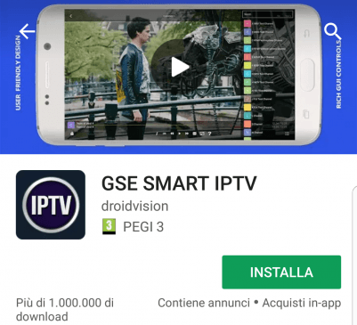 GSE Smart IPTV - IPTV Player per Iphone e Ipad IOS e Android - Lideo