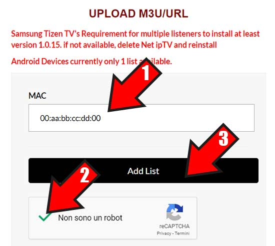 net iptv upload