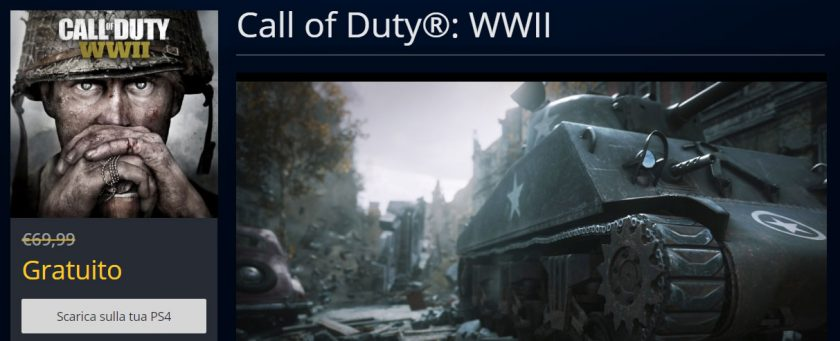 call of duty wwii gratis